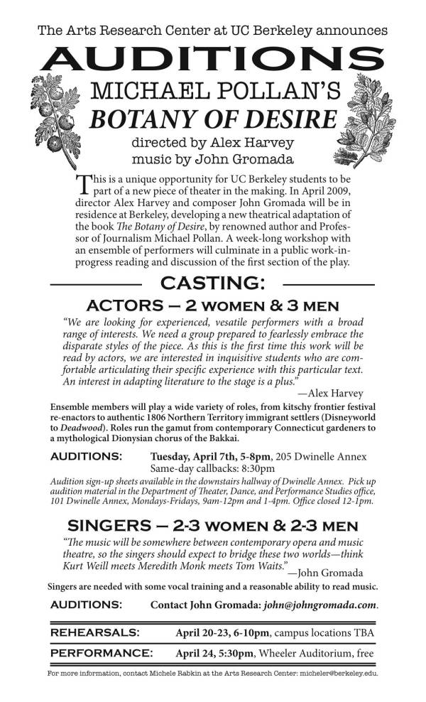 botany_audition_flyer